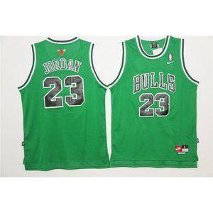 Chicago Bulls Michael Jordan Green Jersey (2)